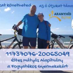 Több mint száz kilométert tesz meg apa és lánya két keréken az autistákért